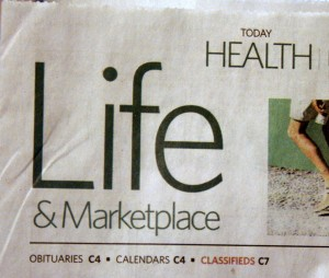 Life section of Idaho Statesman