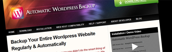 How to backup your WordPress blog