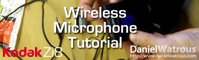Build a Wireless Microphone for your Kodak Zi8 (under $60)